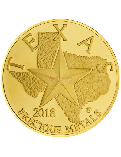 2018 Texas Gold Round with Wooden Display Box (Coming Soon!)