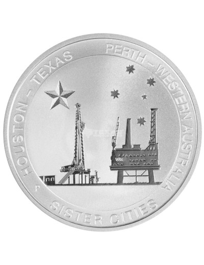 1/2 oz Silver Texas-Australia Sister Cities