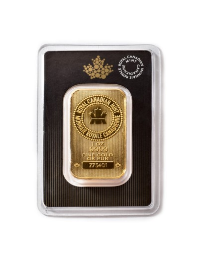 1 Oz Royal Canadian Mint Gold Bar