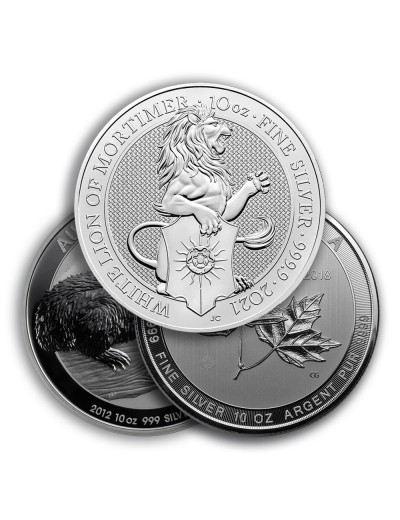 10 oz Silver Coin / Round (Varied Condition - Mint of Our Choice)