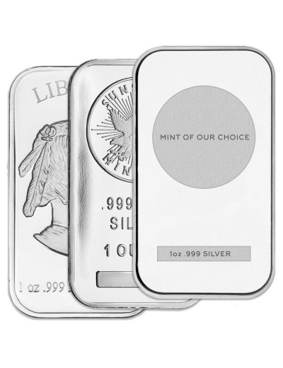 1 oz Silver Bar (Varied Condition, Any Mint)