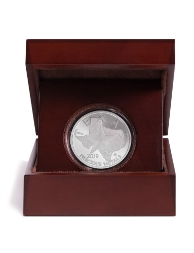 2019 Texas Silver Round with Wooden Display Case *Texas Edition*