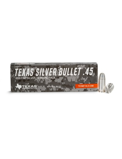 .45 Caliber Pure Silver Bullet Bullion (1 oz) *10-pack*