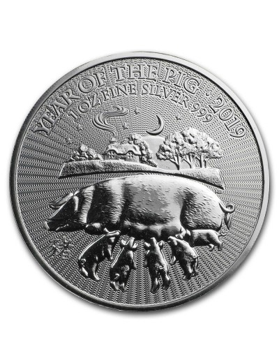 British Mint Year of the Pig 1 oz Silver Coin