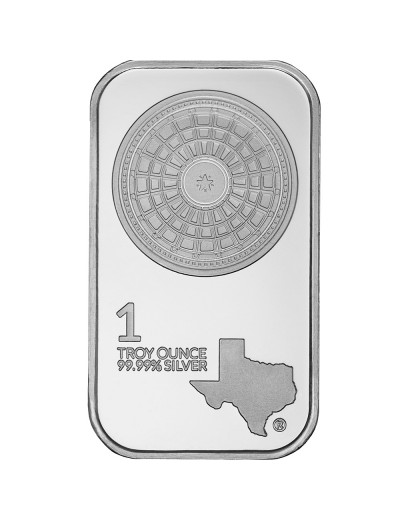 1 oz Texas Mint Silver Bar