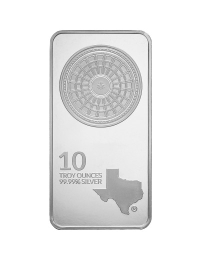 10 oz Texas Mint Silver Bar