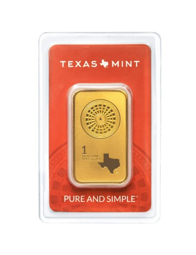 1 oz Texas Mint Gold Bar *Available June 2020*