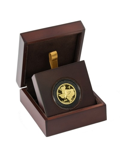 2018 Texas Gold Round with Wooden Display Case *Texas Edition*