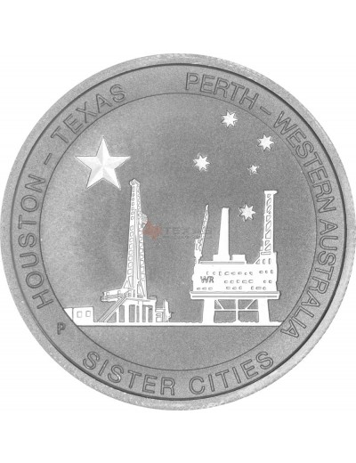 1/2 oz Silver Texas-Australia Sister Cities *Exclusive*