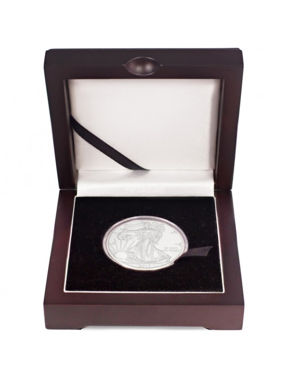 Buy 2018 American Silver Eagle Coin with Wooden Display Box