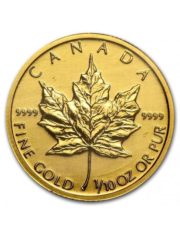 1/10 oz Canadian Maple Leaf Gold Coin