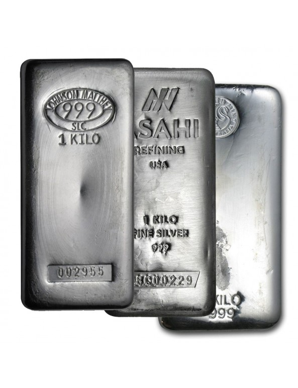 1 Kilo Silver Bar - Various Mints