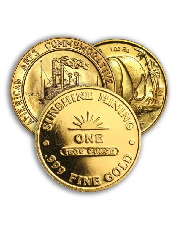 1 oz Gold Round (Varied Condition, Any Mint)