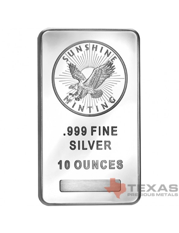 Buy 10 oz Sunshine Mint Silver Bars