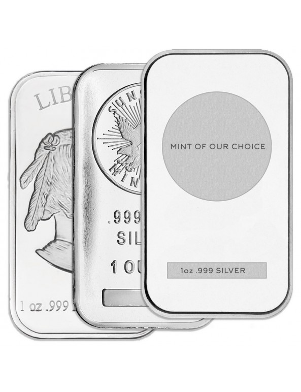 1 oz Silver Bar - Various Mints and Condition