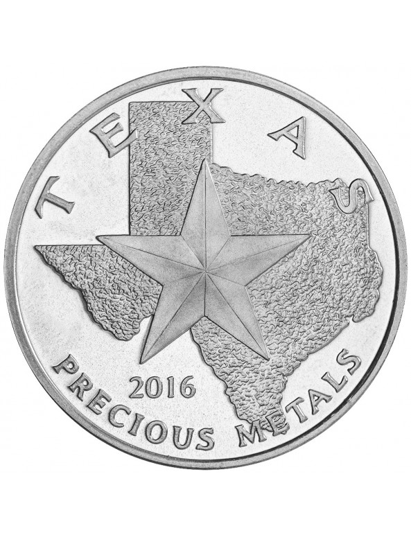Buy 2016 Texas Silver Round