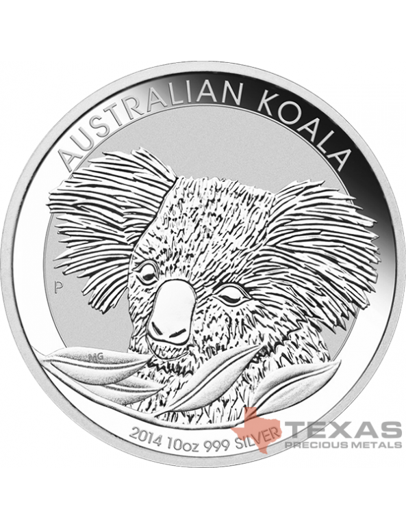 Buy 10 oz Australian Perth Mint Silver Koalas (2014)