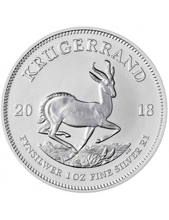 2018 South African Silver Krugerrand Reverse