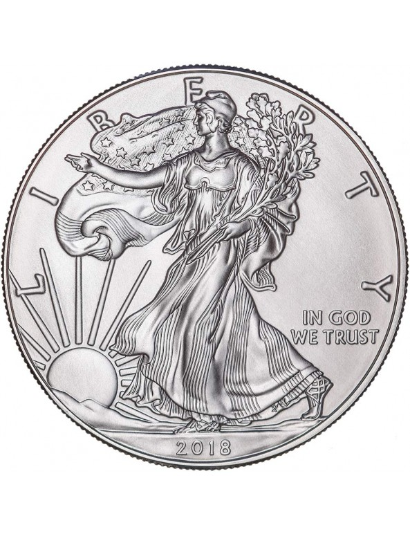 Buy 2019 American Silver Eagle Coin with Wooden Display Box