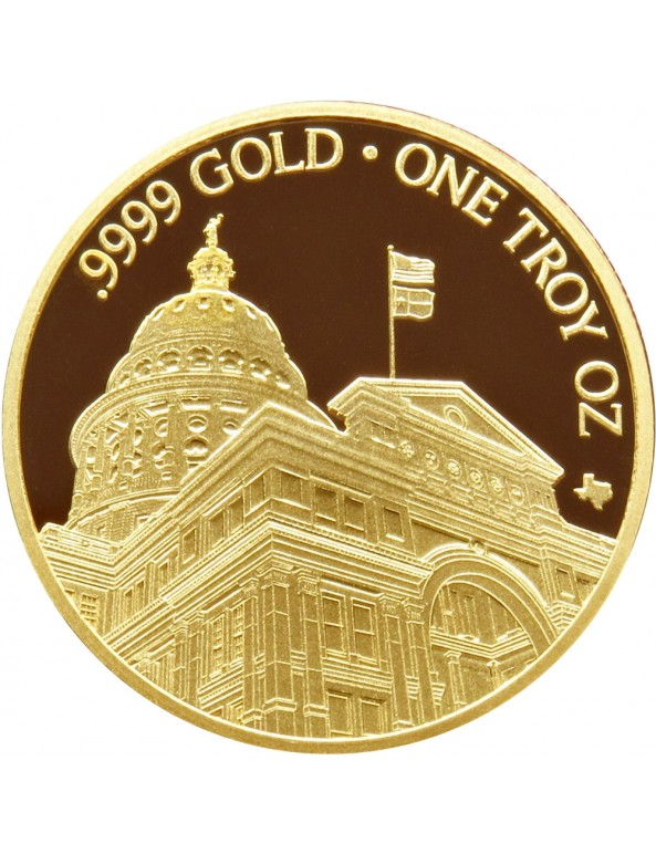 Buy 2019 Texas Gold Round with Wooden Display Box