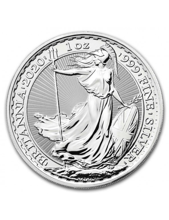 2020 Great Britain 1 oz Silver Britannia BU - Reverse