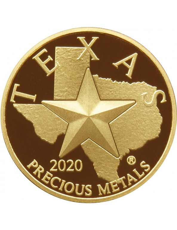Buy 2020 Texas Gold Round with Wooden Display Box