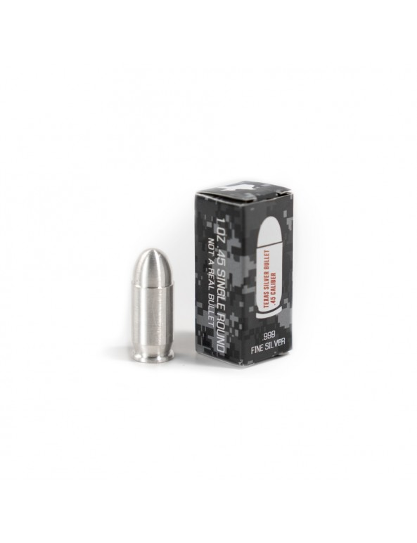 Buy 1 oz Silver Bullet .45 Caliber Pure Silver