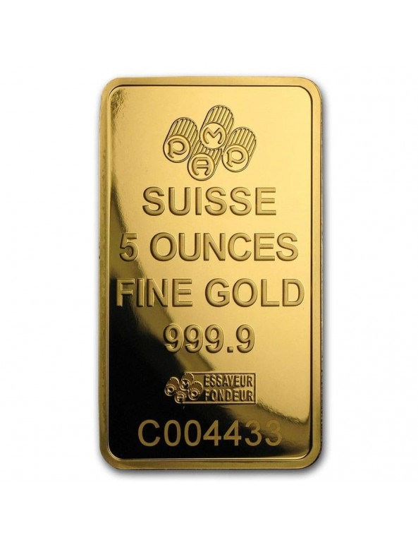 5 oz Gold Bar (Mint of Our Choice)