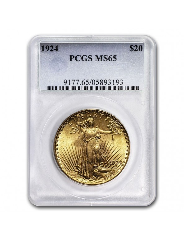 $20 Saint-Gaudens Gold Double Eagle - MS-65 PCGS/NGC