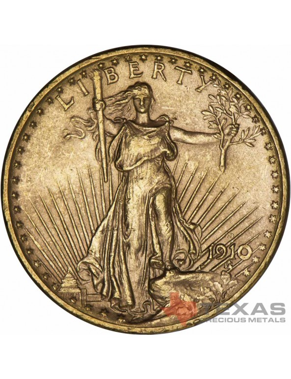 Buy $20 Saint-Gaudens Gold Double Eagle - AU (Dates Our Choice)