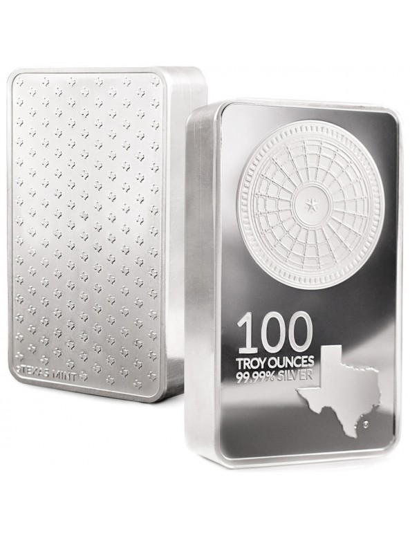 Buy 100 oz Texas Silver Bar