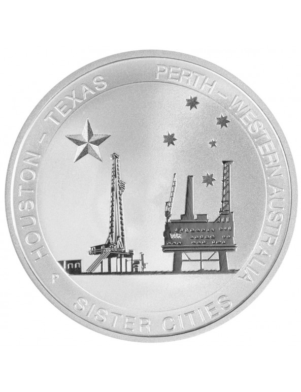 Buy 1/2 oz Silver Perth-Houston Sister Cities *Exclusive*