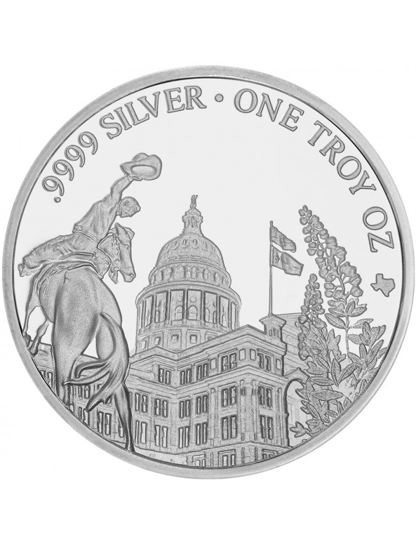 Buy 2019 Texas Silver Round with Wooden Display Box