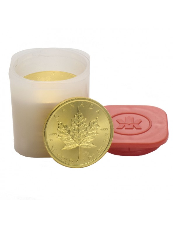 Buy Canadian Maple Leaf Gold Coin (Any Year) *Tube of 10*