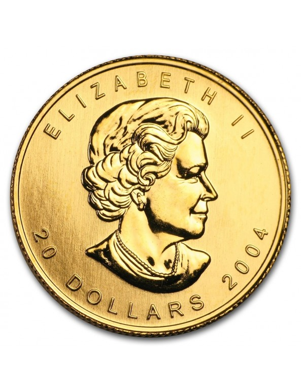 1/2 oz Canadian Maple Leaf Gold Coin - Obverse