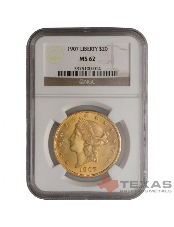 Buy $20 Liberty Gold Double Eagle - MS-62 PCGS/NGC (Dates Our Choice)