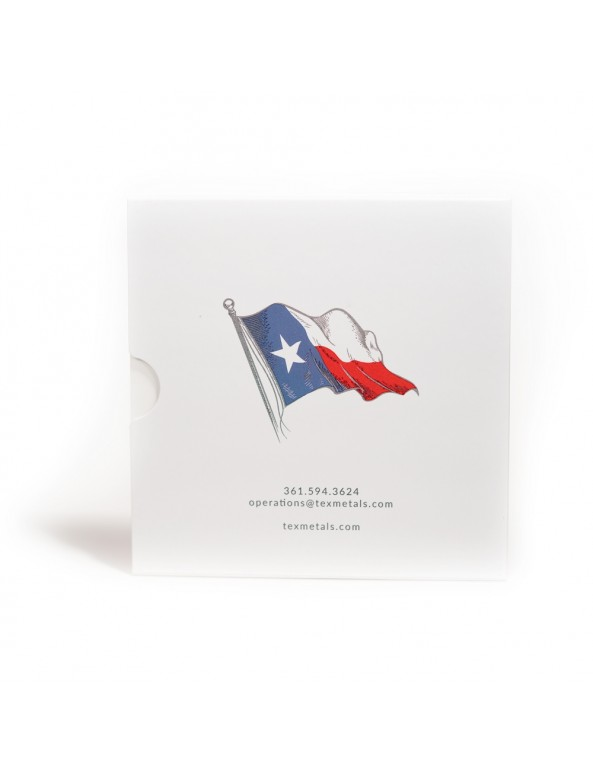Texas Silver Round Collector Booklet - Back