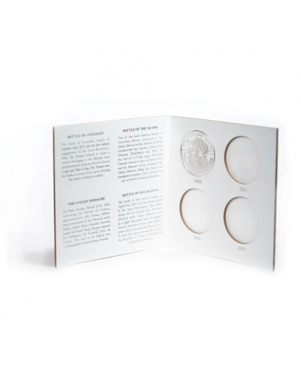Texas Silver Round Collector Booklet - Inside