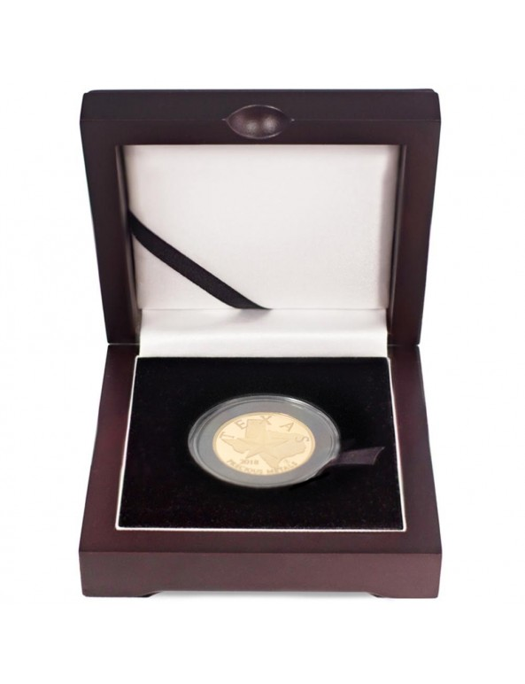Buy 2018 Texas Gold Round with Wooden Display Box