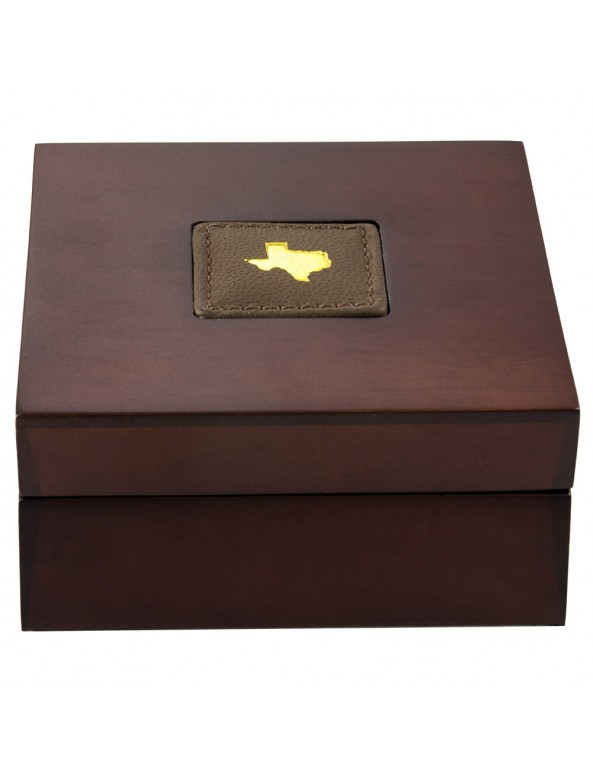 Buy 2021 Texas Gold Round with Wooden Display Case *Texas Edition*