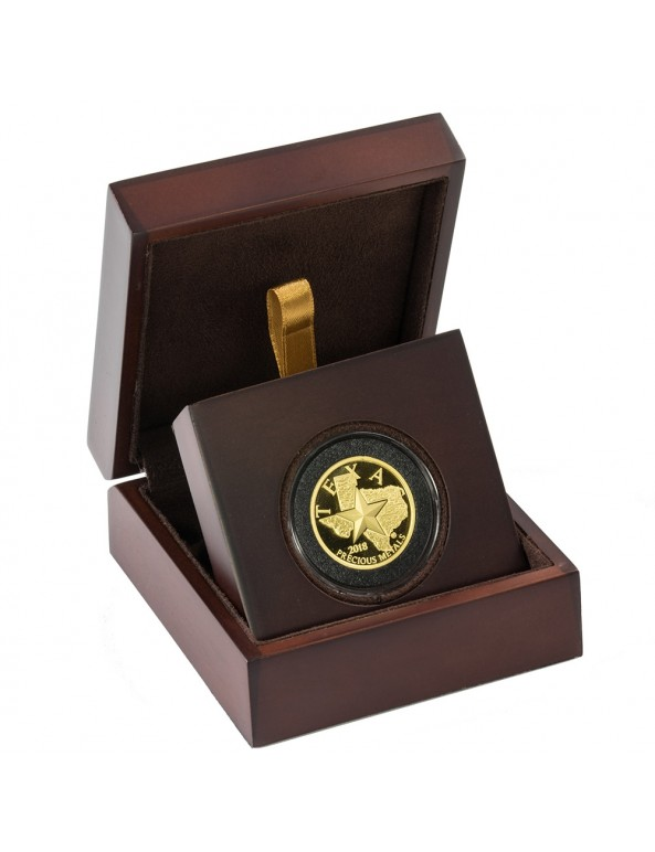 Buy 2018 Texas Gold Round with Wooden Display Case *Texas Edition*