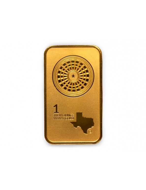 Buy 1 oz Texas Mint Gold Bars w/ Assay (25 oz Box)