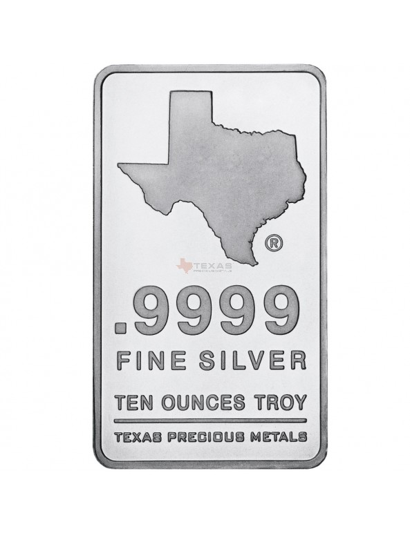 Buy 10 oz Texas Silver Bar