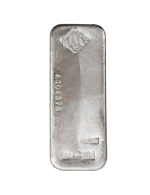 Buy 100 oz Johnson Matthey Silver Bars