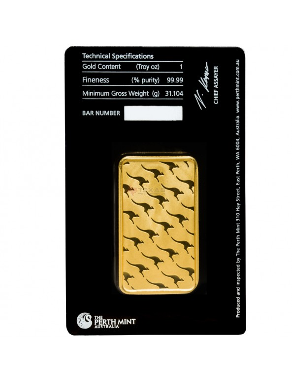Buy 1 oz Perth Mint Gold Bars w/ Assay (25 oz Box)
