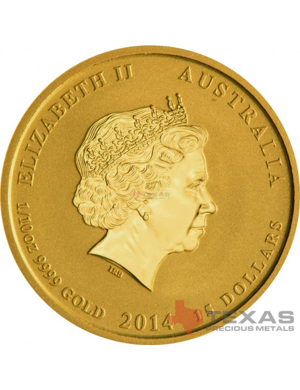 Buy 2014 Year of the Horse - Lunar Series II - 1/10 oz Gold