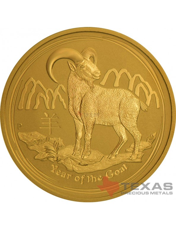 Buy 2015 Year of the Goat - Lunar Series II - 1 oz Gold