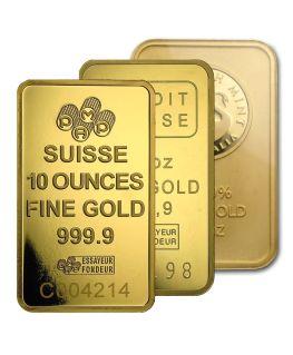10 oz Gold Bar (Any Mint)