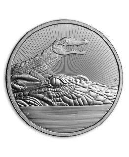 2 oz Australian Perth Mint Silver Crocodile Mother & Baby