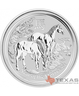2014 Year of the Horse - Lunar Series II - Silver (10 ozs)